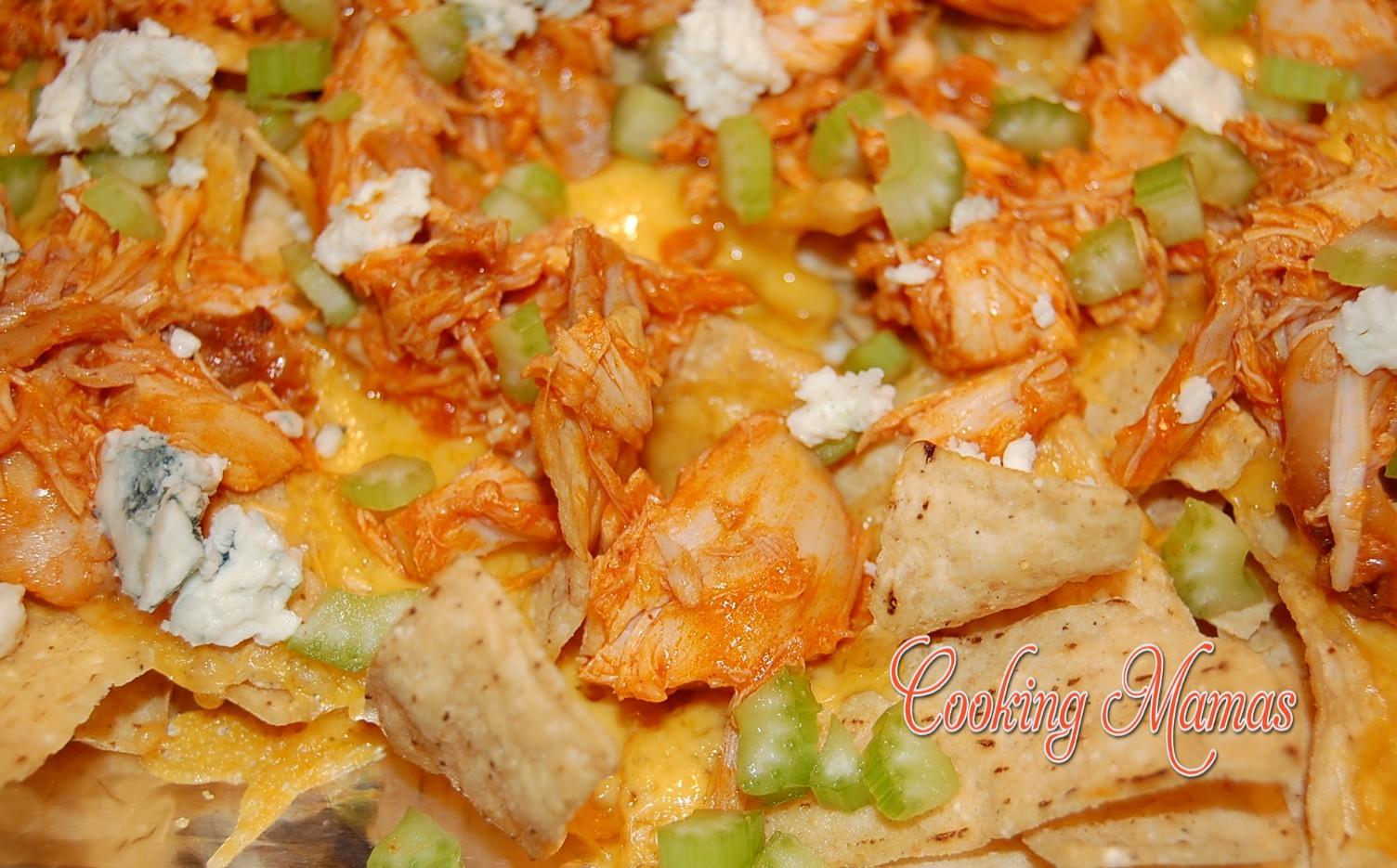 Buffalo Chicken Nachos | Cooking Mamas