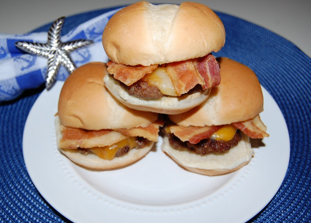 Bacon Cheese Burger Sliders