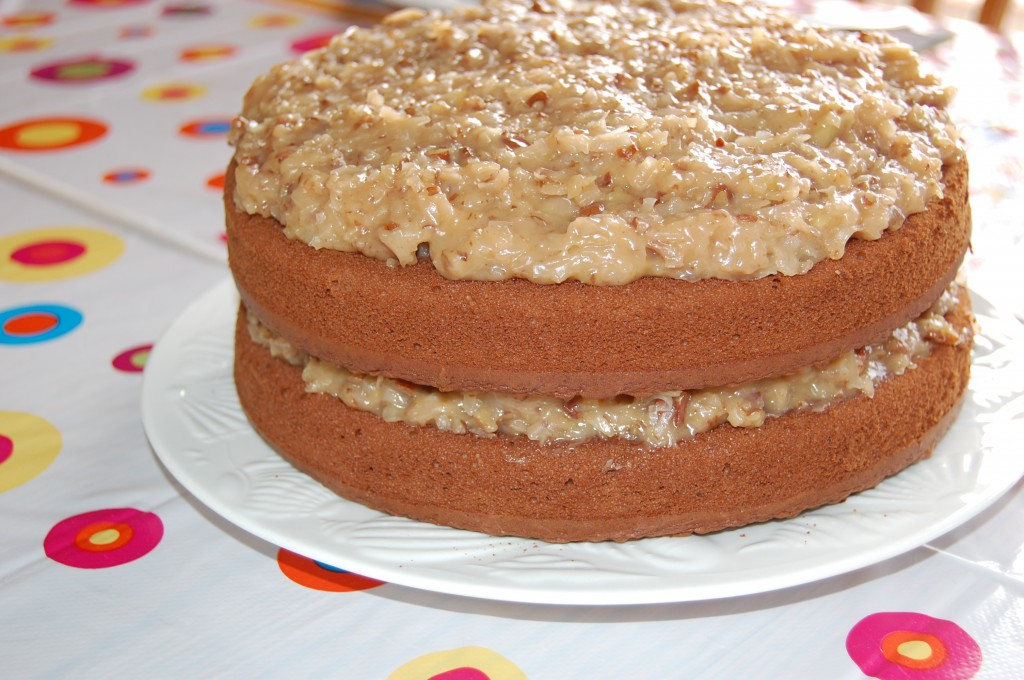Best Ever German Chocolate Cake with Coconut Pecan ...