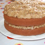 Best Ever German Chocolate Cake with Coconut Pecan Frosting