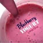 Blackberry Yogurt Smoothies