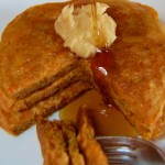 Carrot Cake Pancakes with Cinnamon Butter