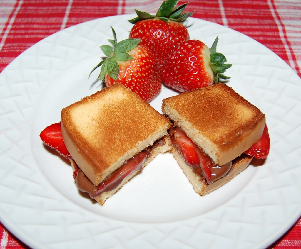 Chocolate Strawberry Paninis