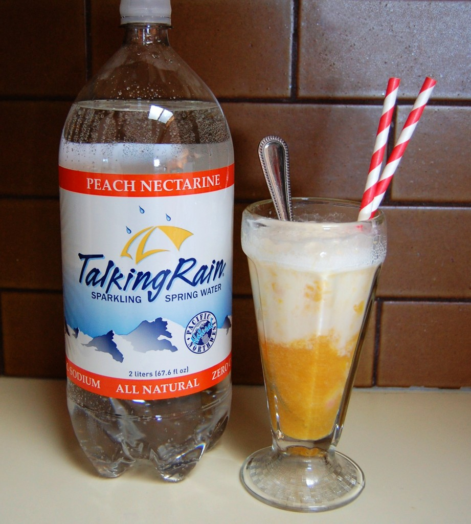 Peach Ice Cream Soda