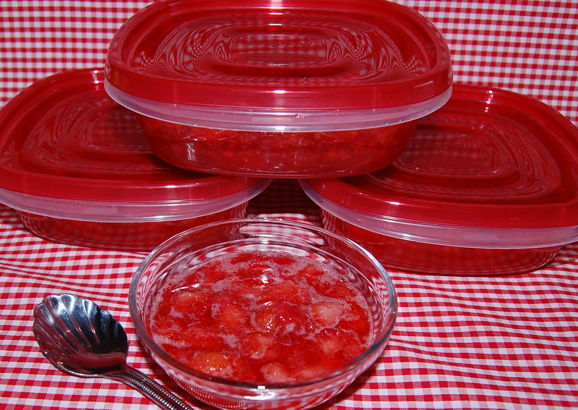 Sally's Strawberry Freezer Jam