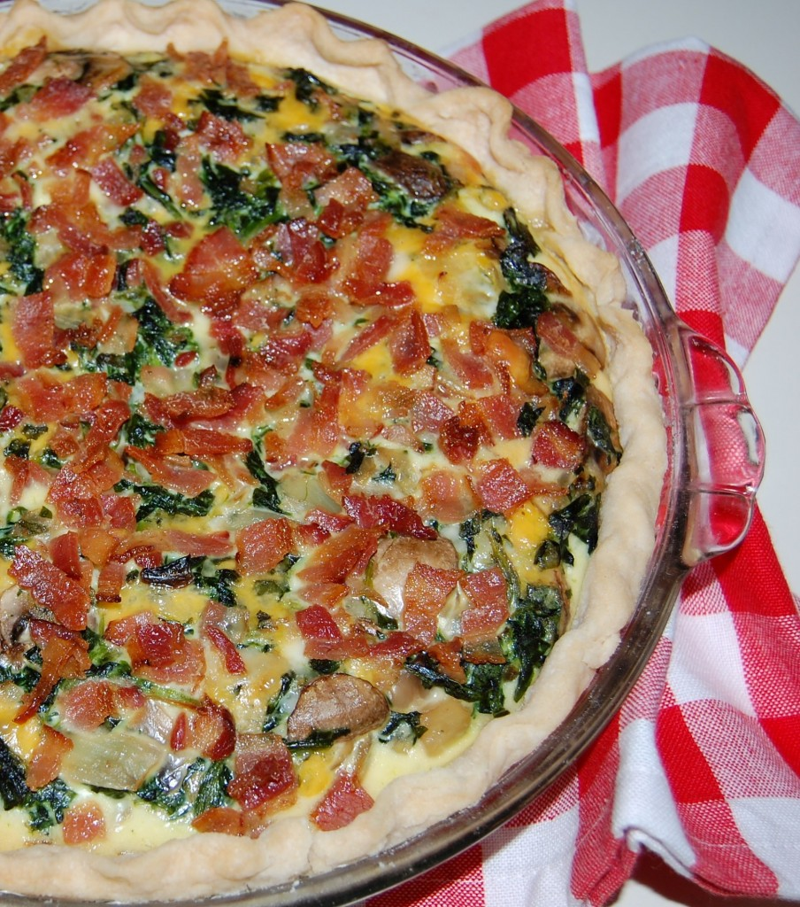 Spinach Bacon Quiche