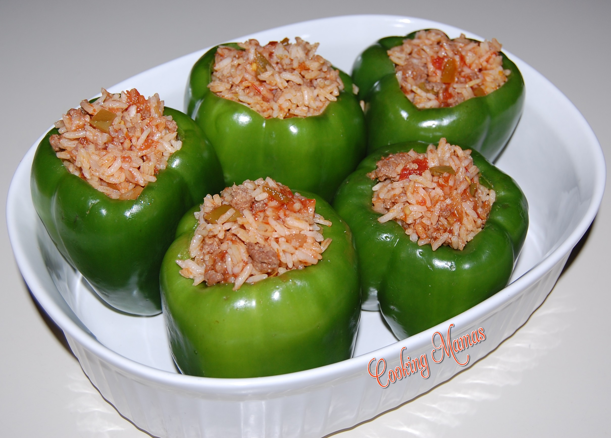 Stuffed Green Peppers | Cooking Mamas