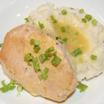 Crock Pot Ranch Pork Chops with Parmesan Mashed Potatoes