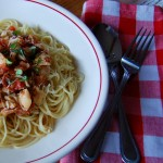 Linguine with Clams Bacon and Tomato