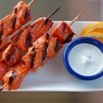 Orange Glazed Salmon Kebabs