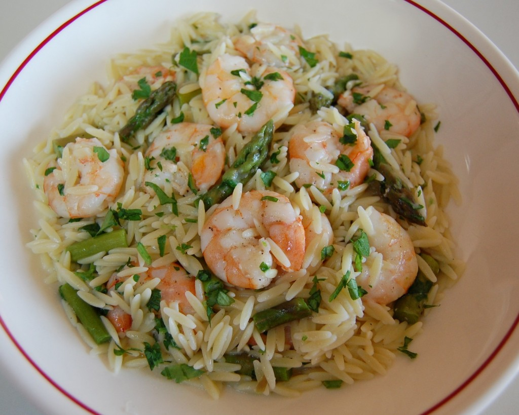 Orzo Risotto with Shrimp & Asparagus | Cooking Mamas