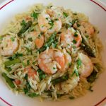 Orzo Risotto with Shrimp & Asparagus