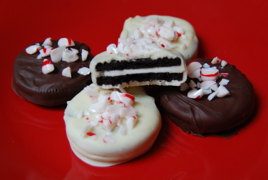 Peppermint Chocolate Covered Oreos