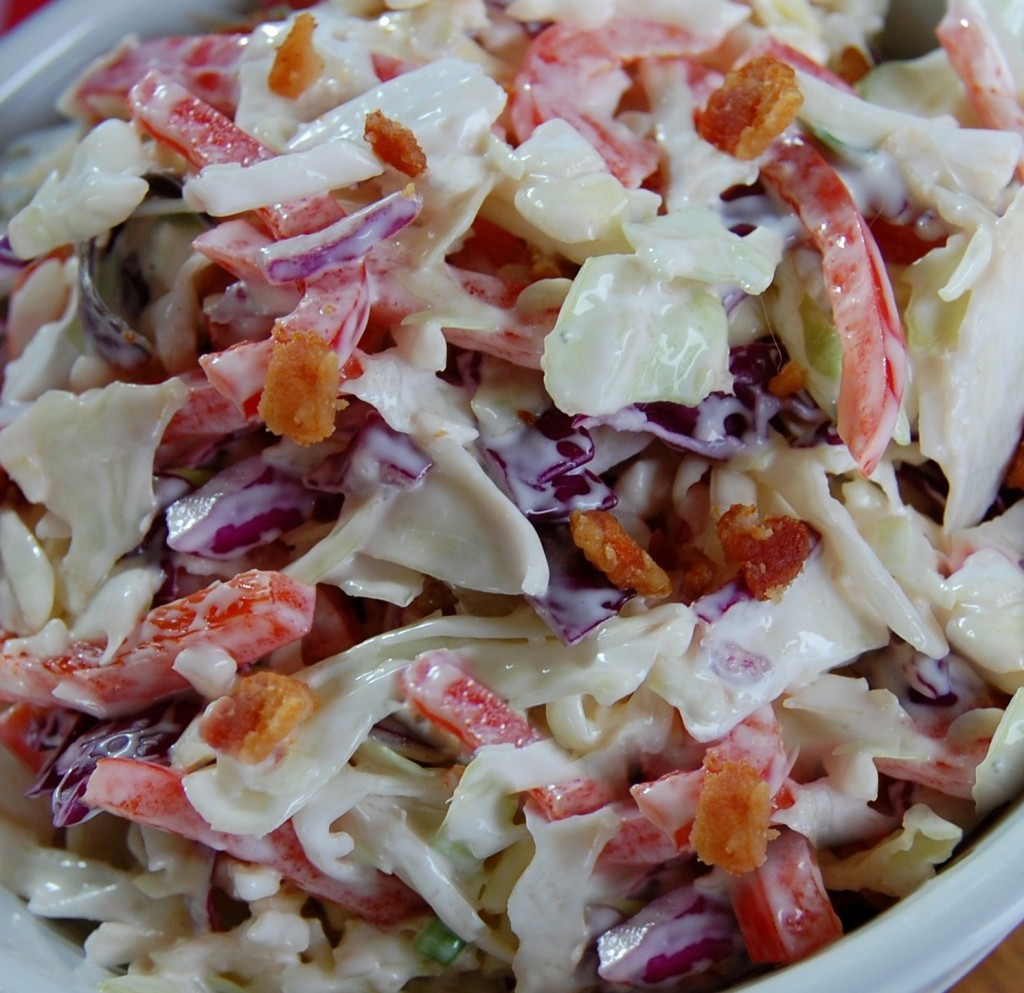 Red White and Bleu Cheese Coleslaw