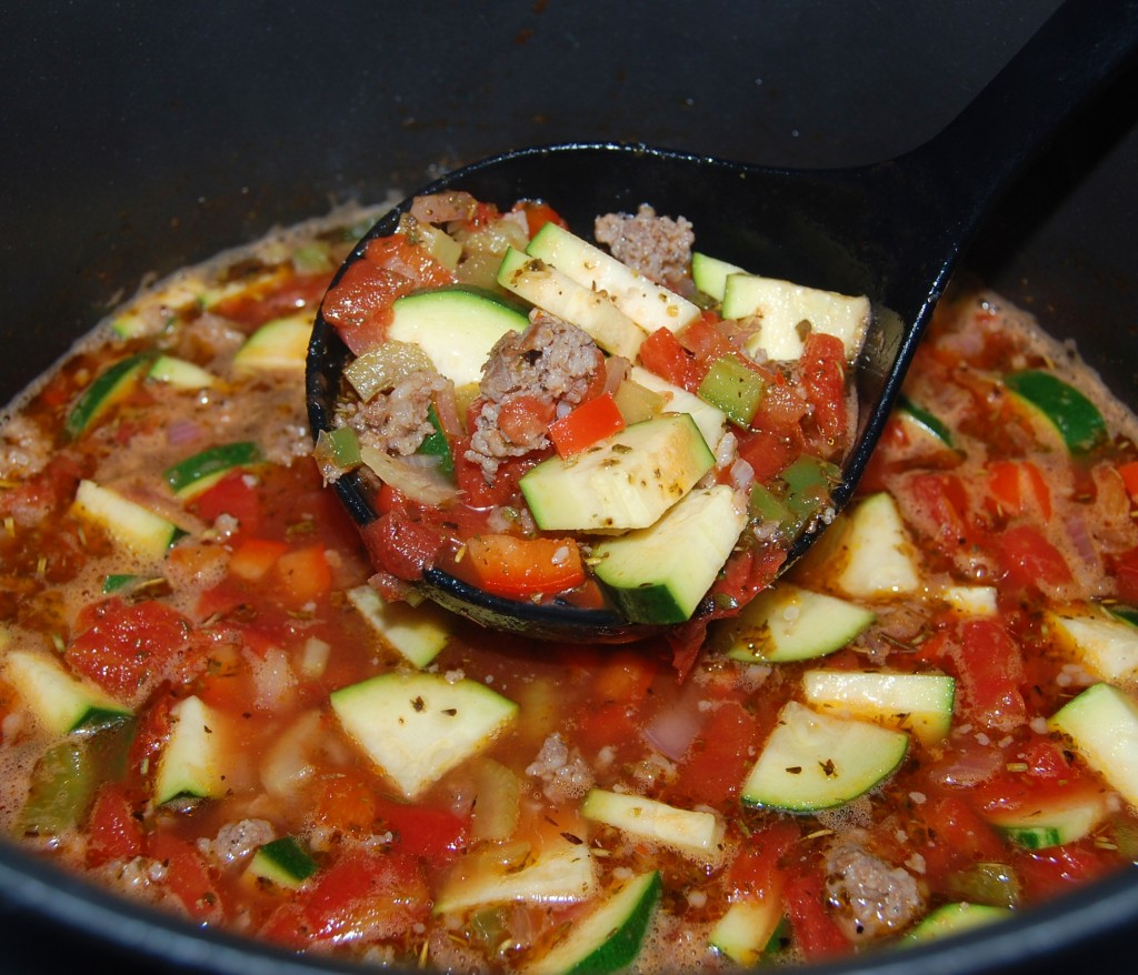 Spicy Sausage Zucchini Soup