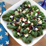 Spinach Salad with Blueberry Vinaigrette
