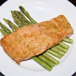 Sweet Mustard Glazed Salmon