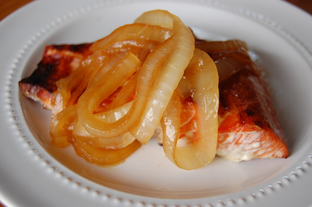 Teriyaki SalmonTopped with Sweet Onions
