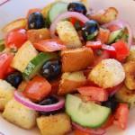 Tomato Basil Panzanella Salad