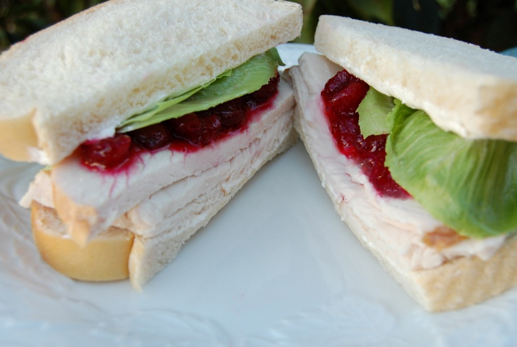 Turkey Cranberry Cream Cheese Sandwiches