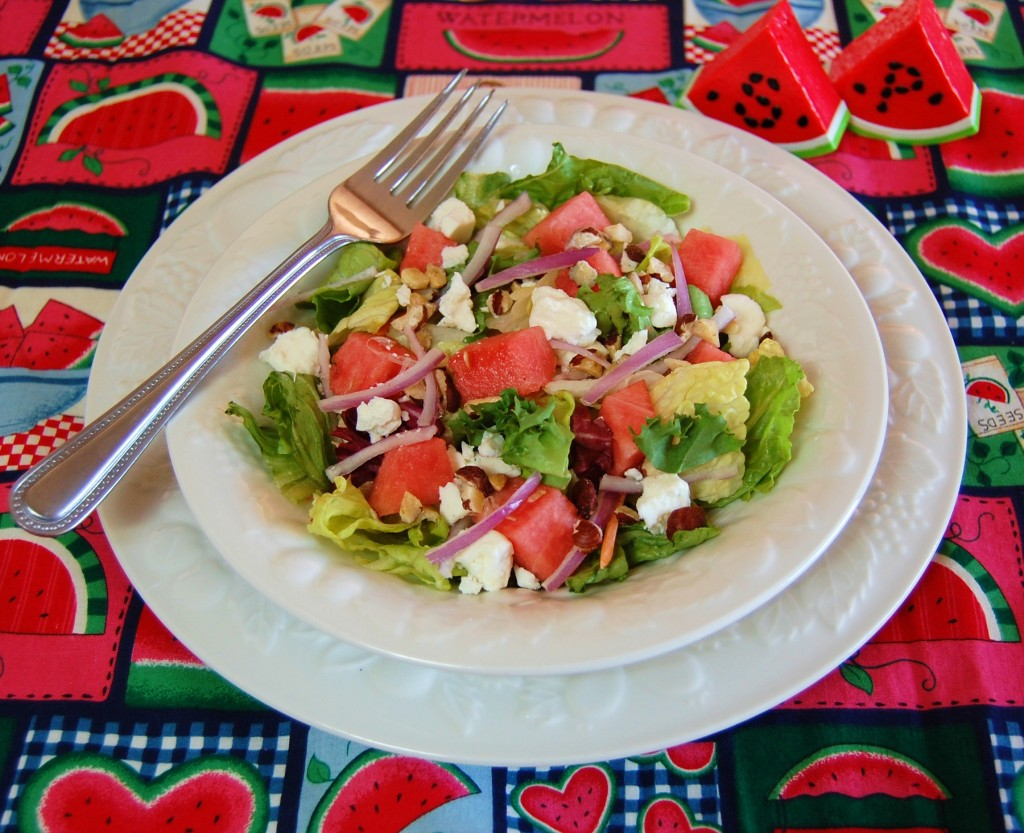Watermelon and Goat Cheese Salad with Citrus Vinaigrette | Cooking ...