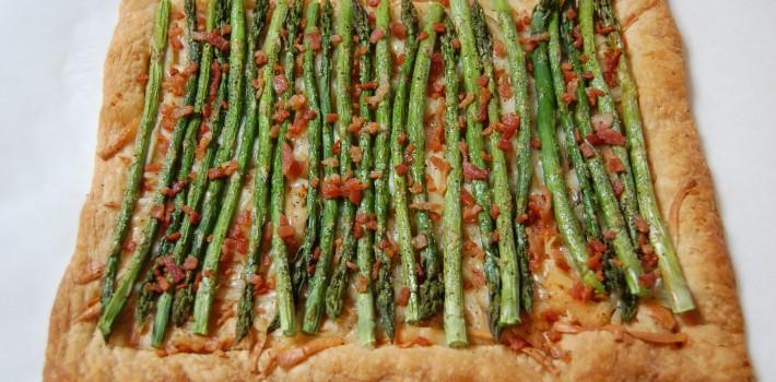 Asparagus Gruyere Tart with Prosciutto