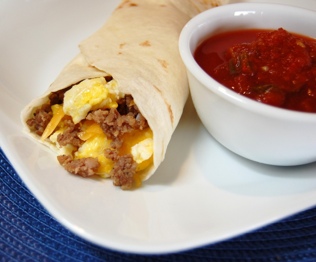 ... egg, and cheese breakfast burritos, perfect breakfast for on the go