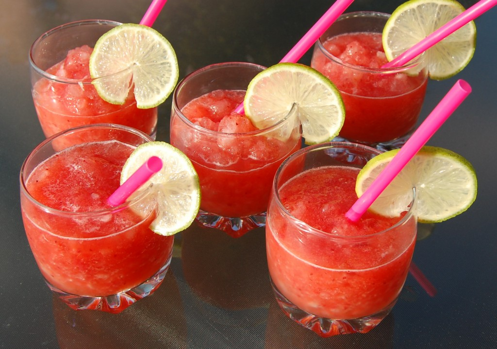 Frozen Strawberry Magaritas