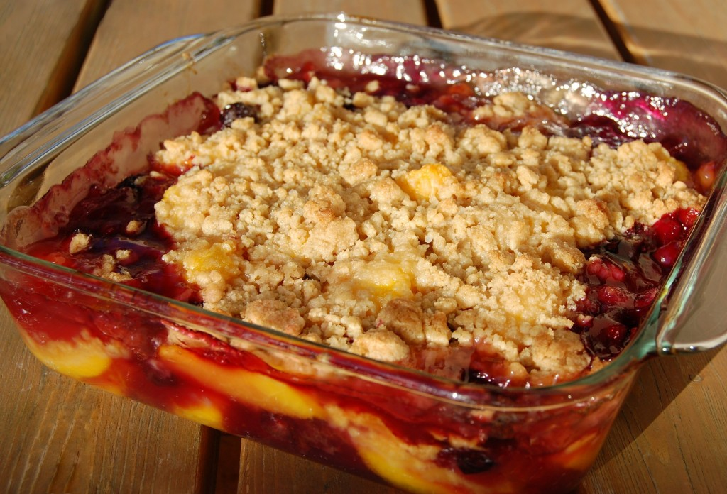 Peach Berry Cobbler