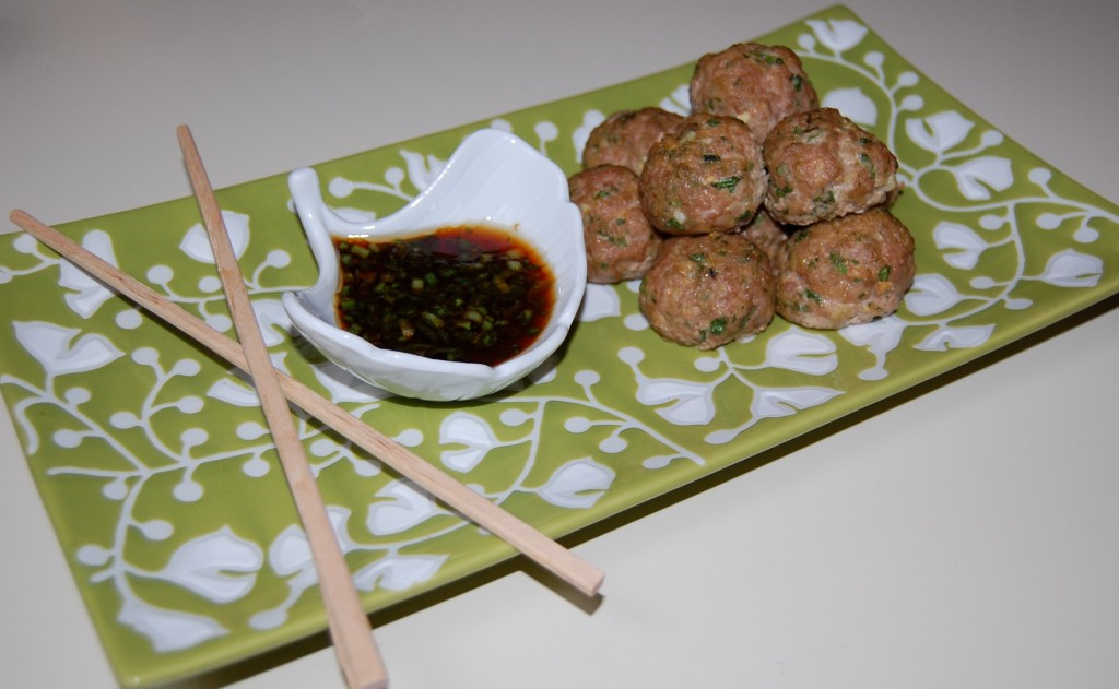 Asian Turkey Meatballs with Lime & Sesame Dipping Sauce ...