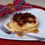 Cranberry Orange Pancakes with Cranberry Maple Syrup