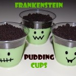 Frankenstein Pudding Cups