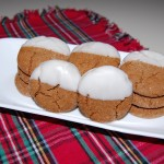 Snow Capped Ginger Cookies