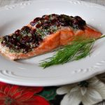 Alder Roasted Salmon with Dill and Cranberries