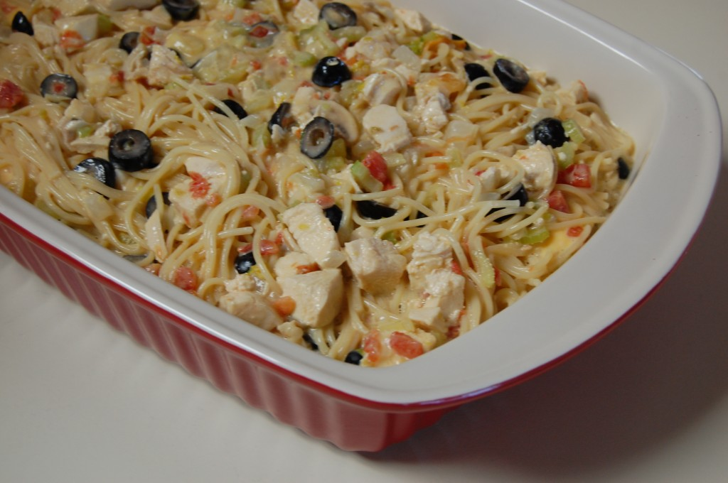 Chicken Spaghetti Casserole Recipe — Dishmaps