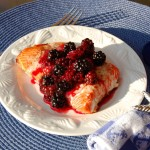 Grilled Salmon with Wild Blackberry Sauce