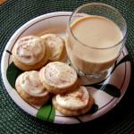 Iced Eggnog Cookies