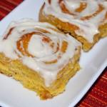 Pumpkin Cinnamon Rolls with Cream Cheese Frosting