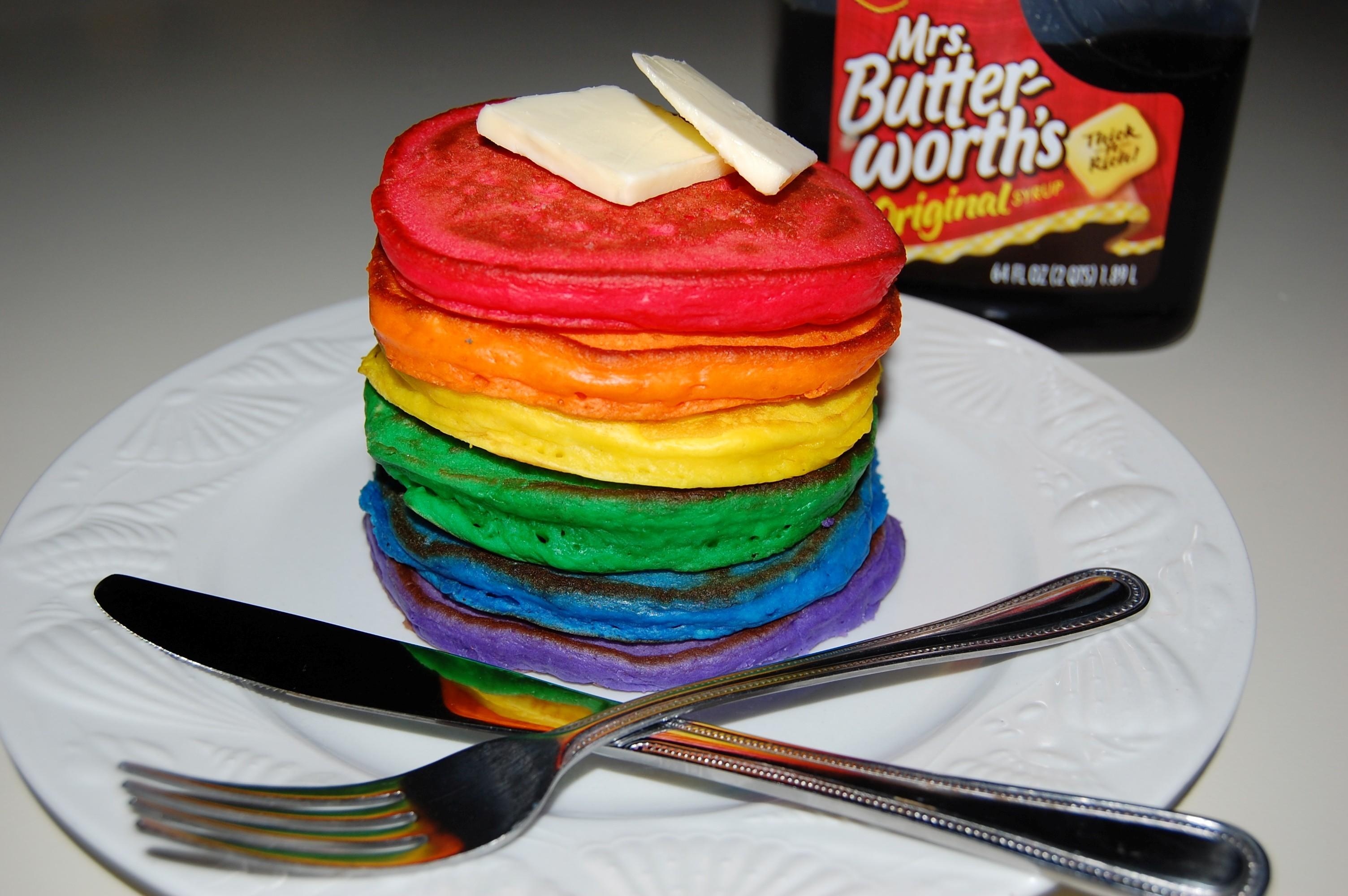 Rainbow Pancakes rainbow pancakes recipe related keywords ...