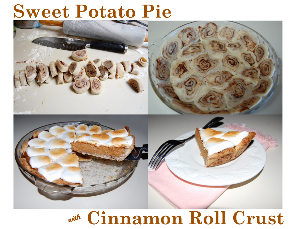 Sweet Potato Pie with Cinnamon Roll Crust | Cooking Mamas