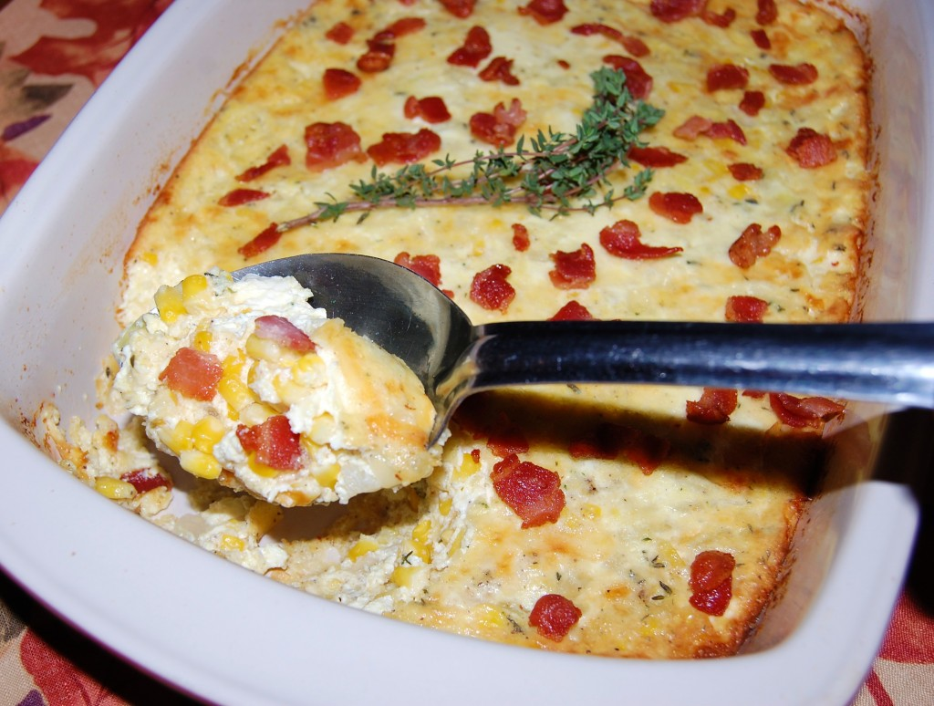 White Cheddar Corn Pudding