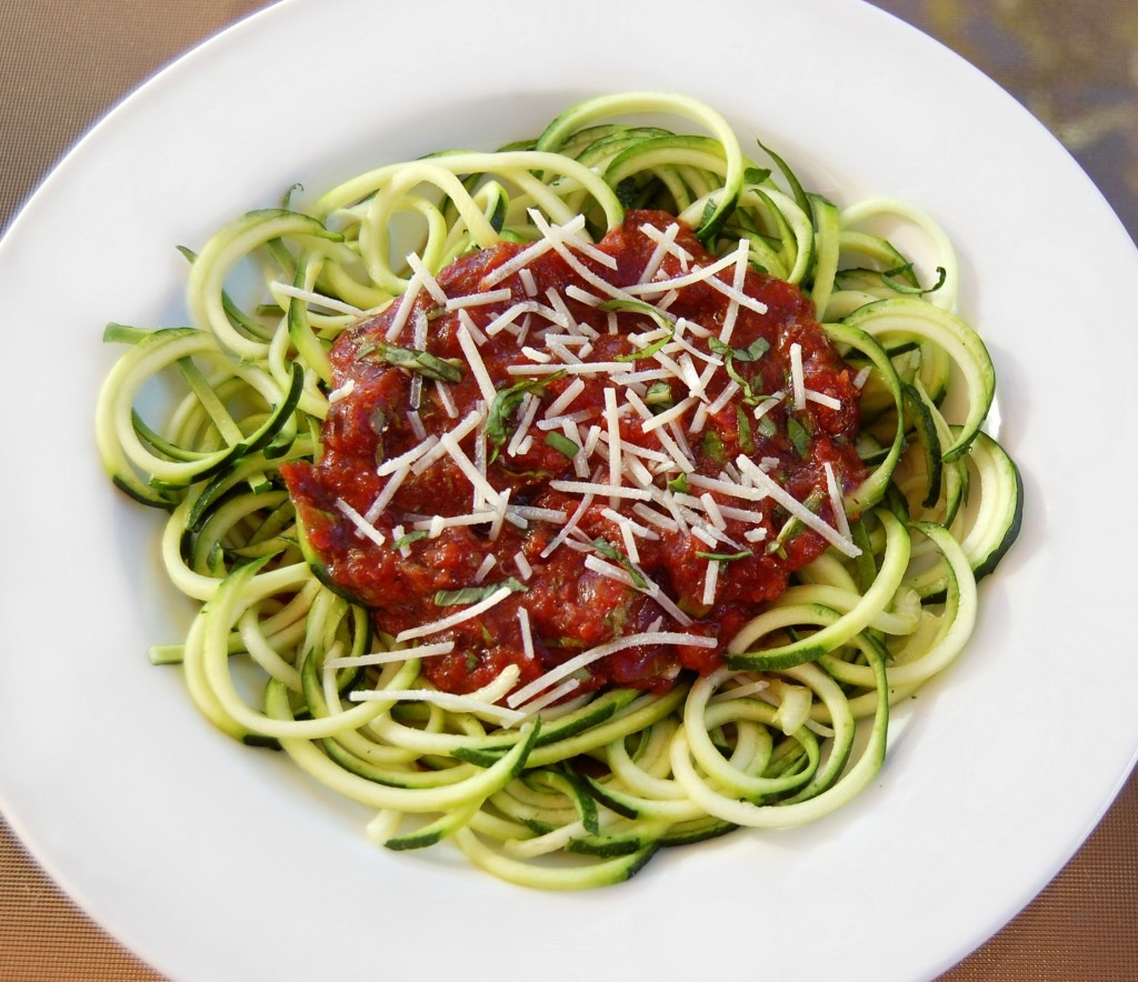 Zucchini Noodles with Basil Marinara