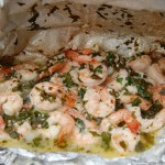 Grilled Garlic Shrimp in a Foil Packet