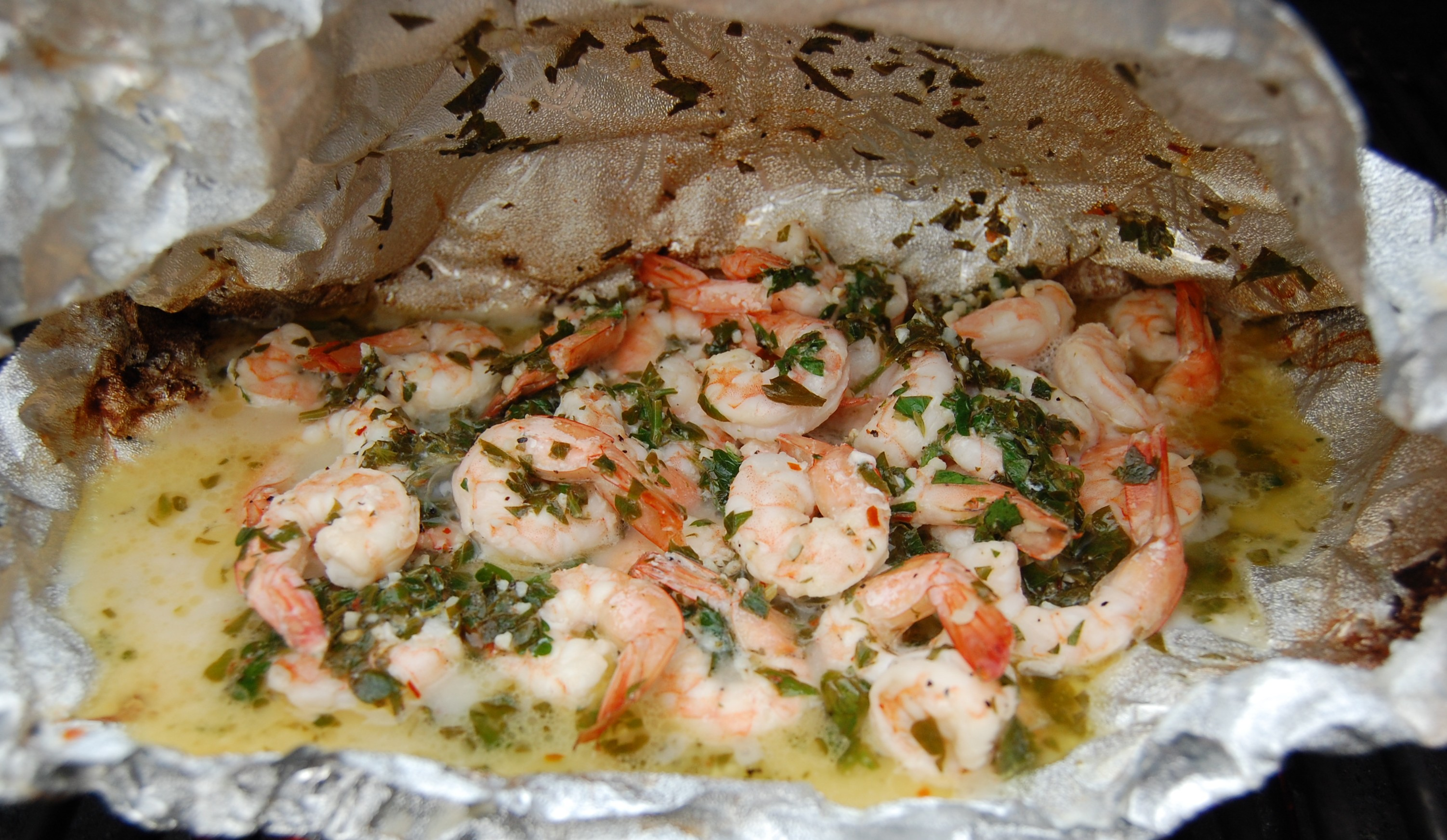 Grilled seafood packets recipe dishmaps for Grill fish in foil