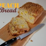 Peach Bread with Pecan Streusel Topping