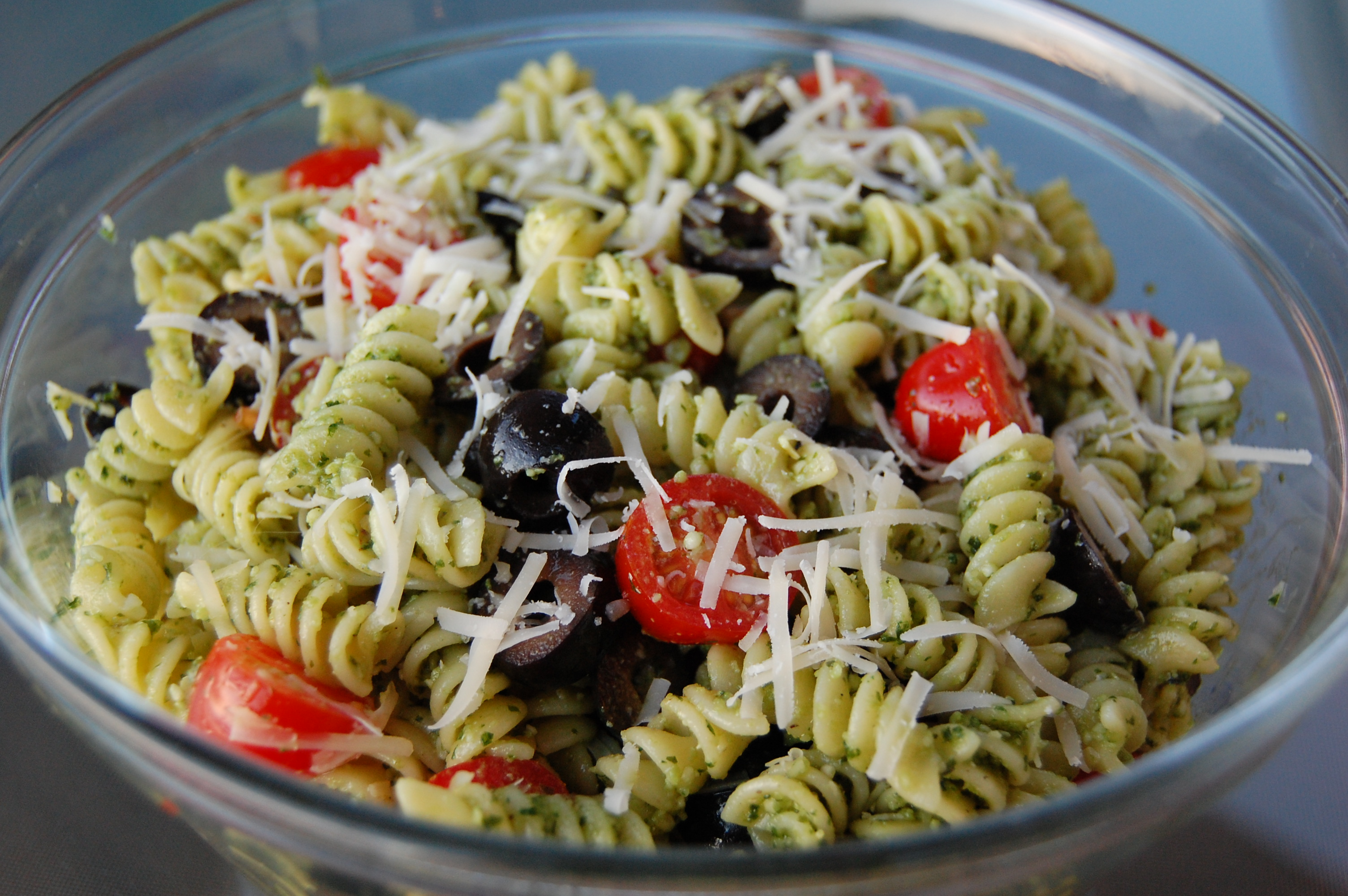 Basil Pesto Pasta Salad | Cooking Mamas