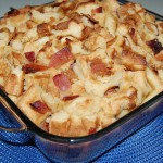 Waffle Bread Pudding with Bacon
