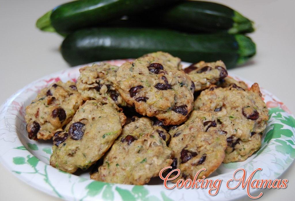 Dark Chocolate Chip Oatmeal Zucchini Cookies