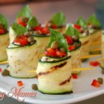 Grilled Zucchini Rolls with Garden Cream Cheese