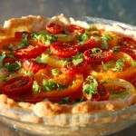 Tomato Pie with Savory Herb and Cheese Crust